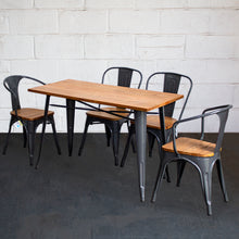 5PC Prato Table, 2 Florence & 2 Palermo Chairs Set - Graphite Grey