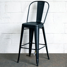 5PC Laus Table & Pascale Bar Stool Set - Onyx Matt Black