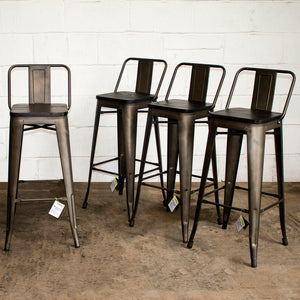 Milan Bar Stool - Gun Metal Grey