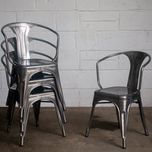 5PC Belvedere Table & Forli Chair Set - Steel