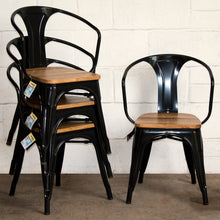 5PC Prato Table, 2 Florence Chairs & 2 Rho Stools Set - Black