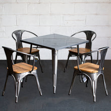 5PC Belvedere Table & Florence Chair Set - Steel