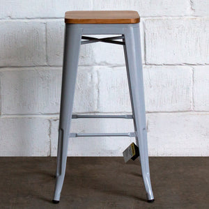 Firenze Bar Stool - Pale Grey