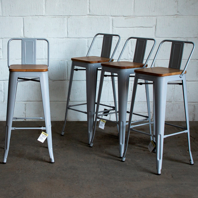 Tuscany Bar Stool - Pale Grey