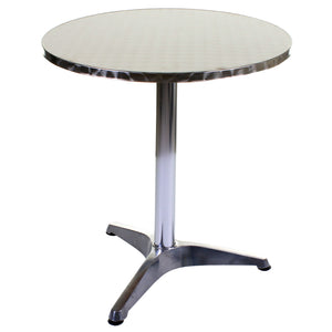 Round Chrome Bistro Table