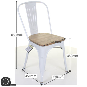 9PC Taranto Table & 8 Palermo Chairs Set - White
