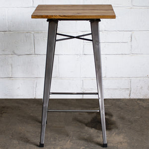 3PC Lodi Table & Firenze Bar Stool Set - Steel