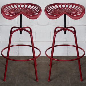 Arezzo Tractor Bar Stools - Red