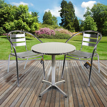 3PC Chrome Bistro Set with Chrome 60cm Round Table