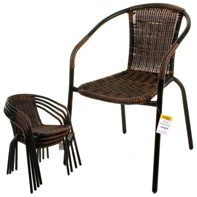 Chocolate Wicker Bistro Chair