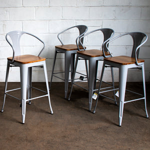 Licata Bar Stool - Pale Grey