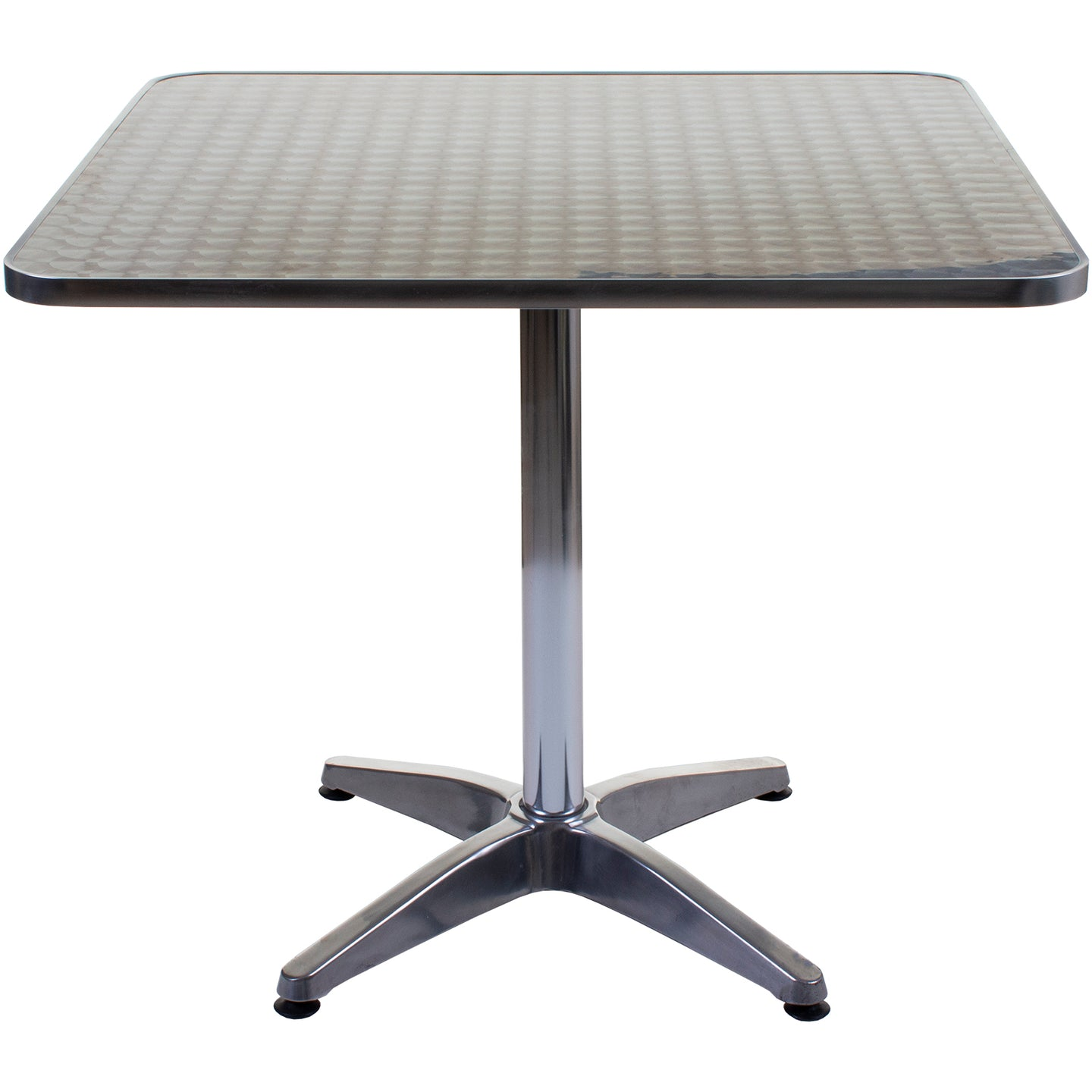 Fajardo Square Chrome Table