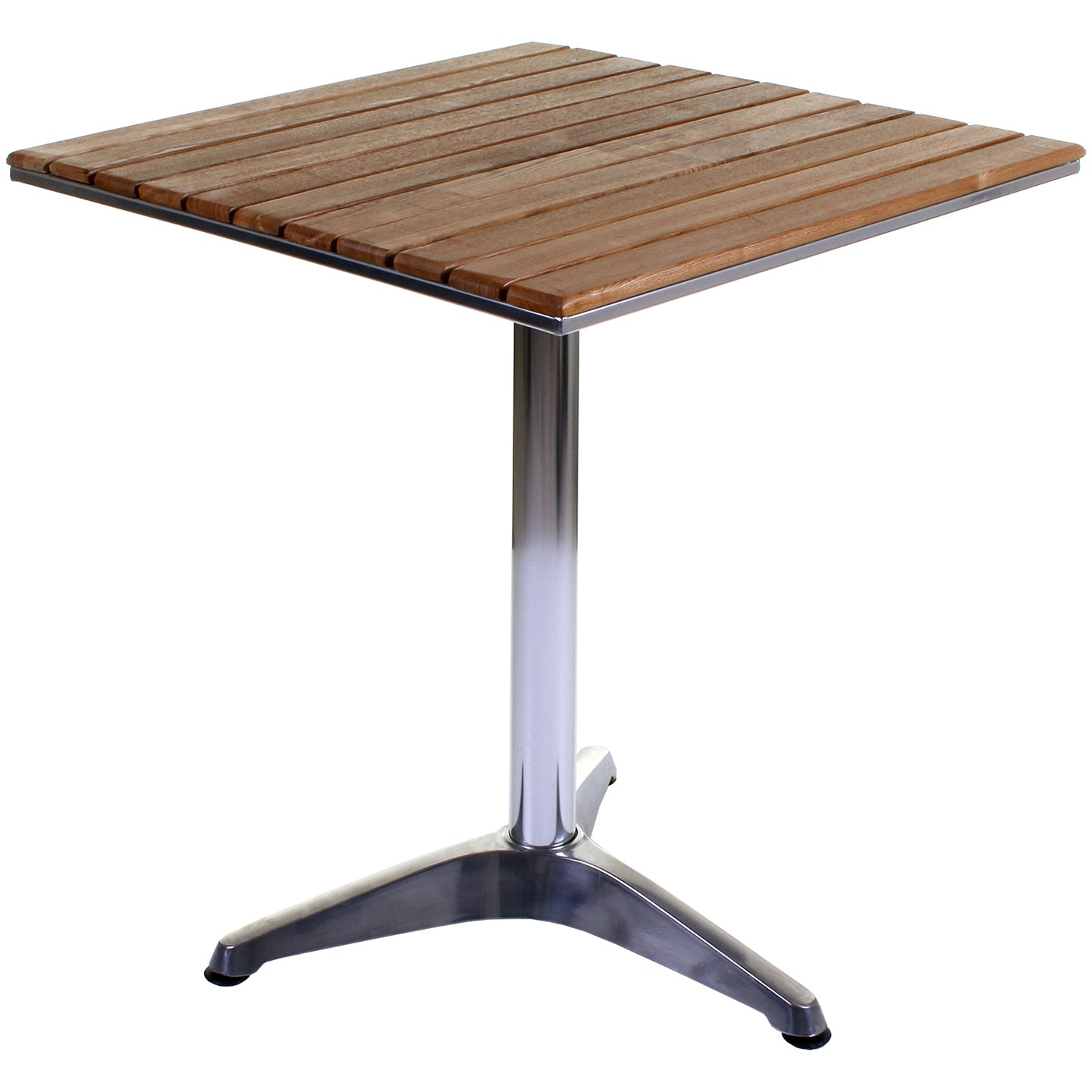 San Juan Bistro Table - Chrome & Ash Wood
