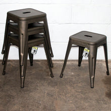 7PC Taranto Table, 3 Forli Chairs & 3 Castel Stools Set - Gun Metal Grey
