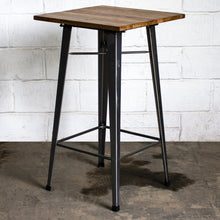 3PC Lodi Table & Soranzo Bar Stool Set - Steel