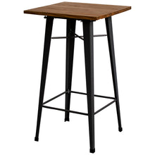 5PC Lodi Table & Orvieto Bar Stool Set - Graphite Grey