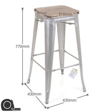 5PC Laus Table & Firenze Bar Stool Set - Steel