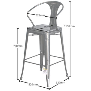 Favara Bar Stool - Steel
