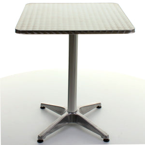 Square Chrome Bistro Table