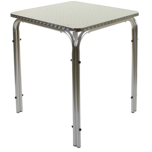 Square Stacking Chrome Bistro Table