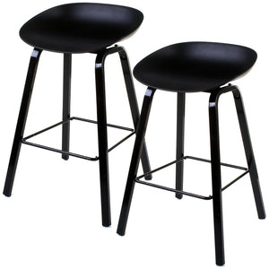 Cremona Bar Stool - Black - Set of 2