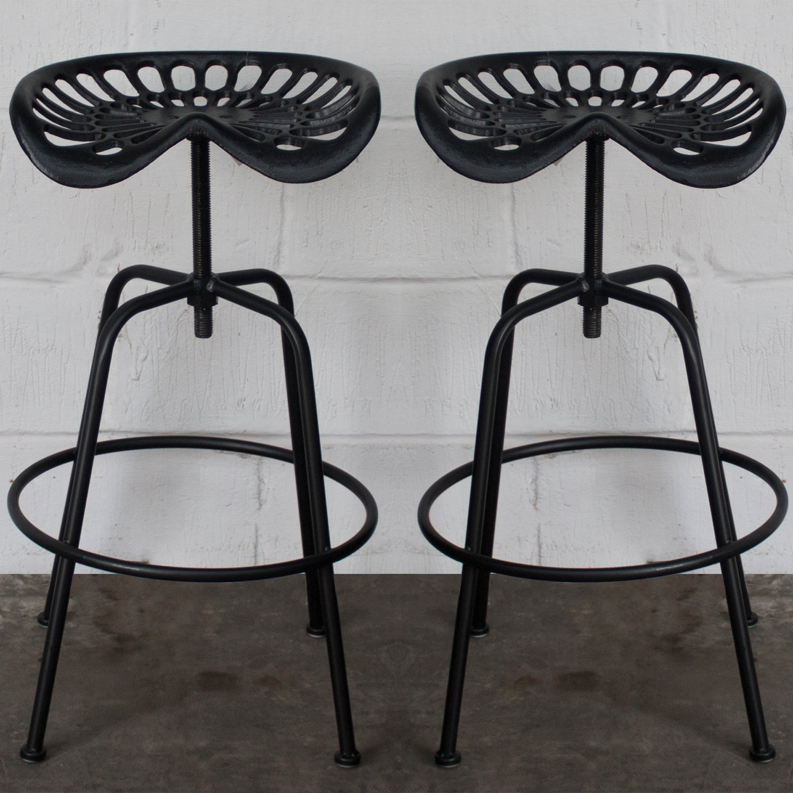Fantastic Arezzo Tractor Bar Stools Black Gmtry Best Dining Table And Chair Ideas Images Gmtryco