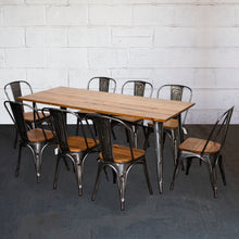9PC Taranto Table & 8 Palermo Chairs Set - Steel