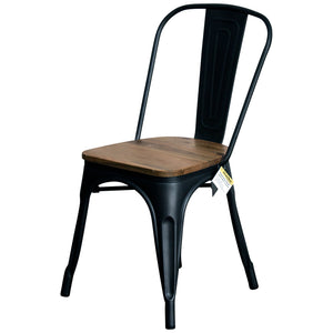 5PC Enna Table Palermo Chair & Rho Stool Set - Onyx Matt Black