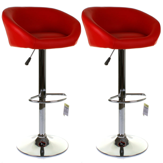 Asti Bar Stool - Red - Set of 2