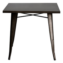 5PC Belvedere Table & Rho Stool Set - Gun Metal Grey