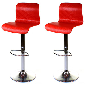 Genoa Bar Stool - Red - Set of 2