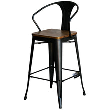 3PC Laus Table & Licata Bar Stool Set - Onyx Matt Black