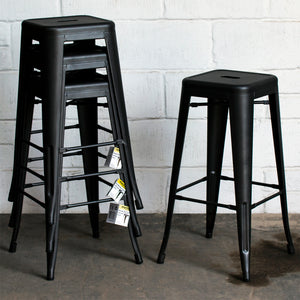 Orvieto Bar Stool - Onyx Matt Black