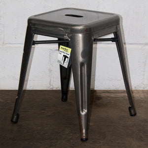 5PC Enna Table Forli Chair & Castel Stool Set - Steel