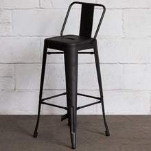 5PC Lodi Table & Naples Bar Stool Set - Onyx Matt Black