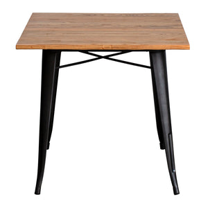 3PC Enna Table & Castel Stool Set - Onyx Matt Black