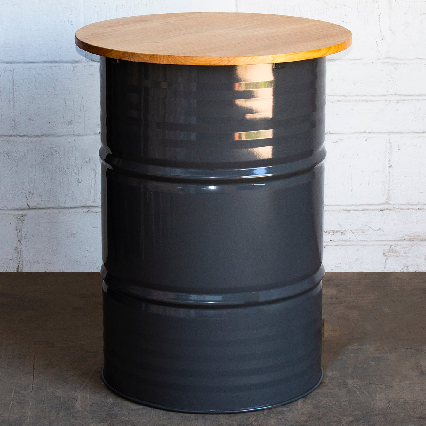 Barrel Bar Table - Graphite Grey