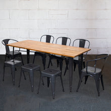 9PC Taranto Table, 2 Forli Chairs, 3 Siena Chairs & 3 Castel Stools Set - Graphite Grey