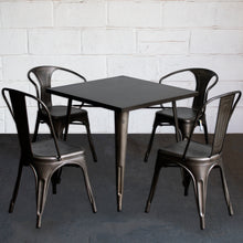 5PC Belvedere Table Forli & Siena Chairs Set - Gun Metal Grey