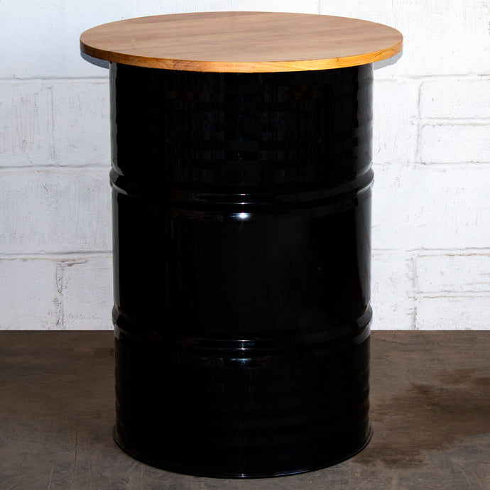 Barrel Bar Table - Black