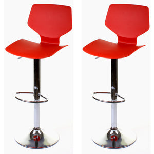 Brianza Bar Stool - Red - Set of 2
