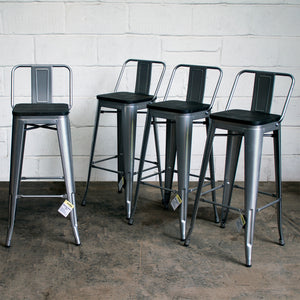 Milan Bar Stool - Silver