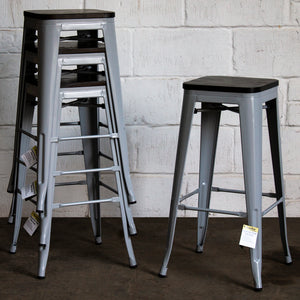 Empoli Bar Stool - Pale Grey