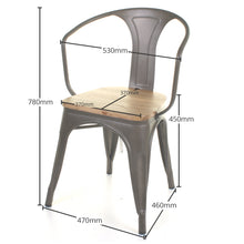 3PC Enna Table & Florence Chair Set - Gun Metal Grey