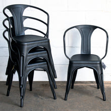 9PC Taranto Table & 8 Forli Chairs Set - Onyx Matt Black
