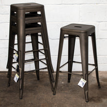 5PC Lodi Table & Orvieto Bar Stool Set - Gun Metal Grey