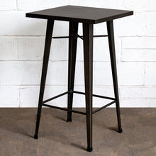 3PC Laus Table & Pascale Bar Stool Set - Gun Metal Grey