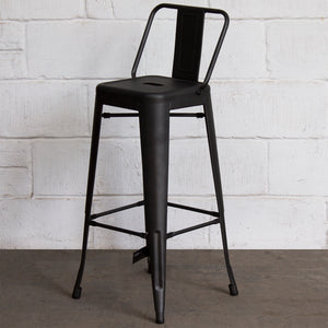 3PC Lodi Table & Naples Bar Stool Set - Onyx Matt Black