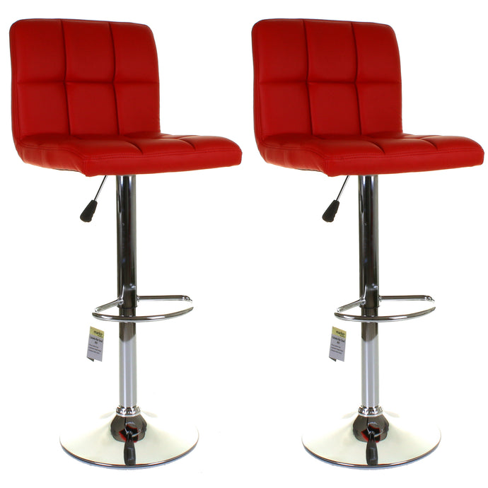 Catania Bar Stool - Red - Set of 2