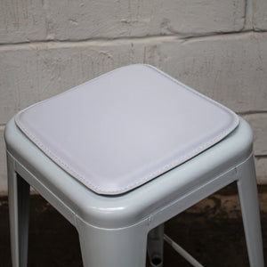 Bar Stool Seat Pad - White